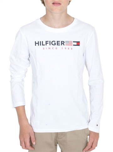 Tommy Hilfiger T-shirt l/s Flags Bright White 04997
