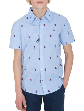 Tommy Hilfiger Boys Shirt s/s mini print 04773