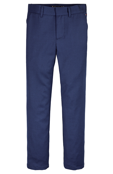 Tommy Hilfiger Boys Flex Pants Blue Check