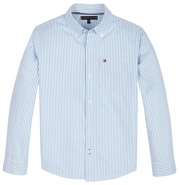 Tommy Hilfiger Boys Essential Stripe Shirt l/s Blue Stripe