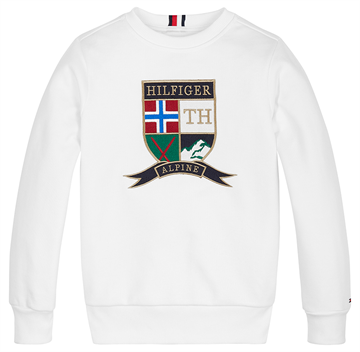 Tommy Hilfiger Boys Shield CN Sweat Bright White
