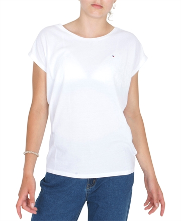 Hilfiger Girls Tee s/s Tommy Lace Tape Bright White 04667