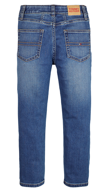 Tommy Hilfiger Girls High Rise Tapered Jeans Ocean Mid Blue