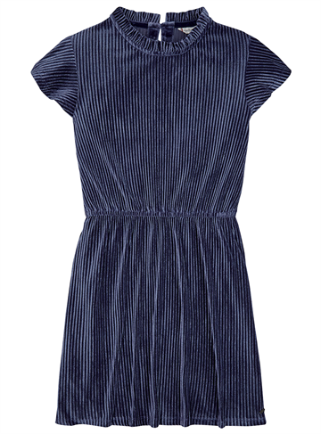 Tommy Hilfiger Girls Velvet Plissé Dress Eclipse