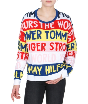 Tommy Hilfiger Girls Sweater Text 04359