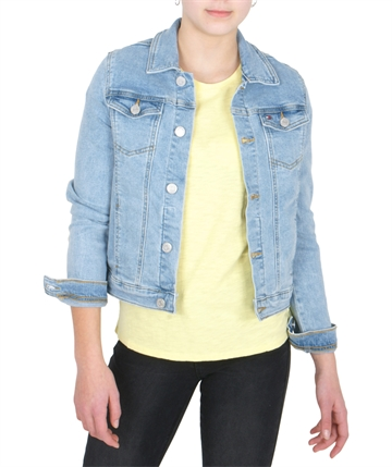 Tommy Hilfiger Girls Jacket Trucker 04232 light blue stretch