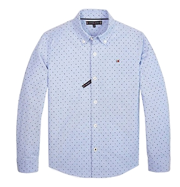 Tommy Hilfiger Boys Mini Pattern Oxford Shirt Regatta