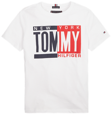 Tommy Hilfiger T-shirt s/s Puff Print Bright White 04994