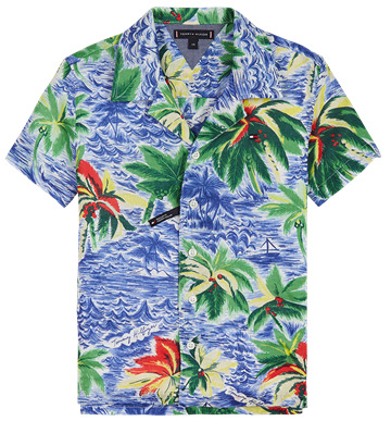 Tommy Hilfiger Shirt s/s Hawaii Print 04974