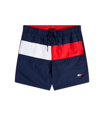 Tommy Hilfiger Boys Swim Shorts Flag Pitch Blue