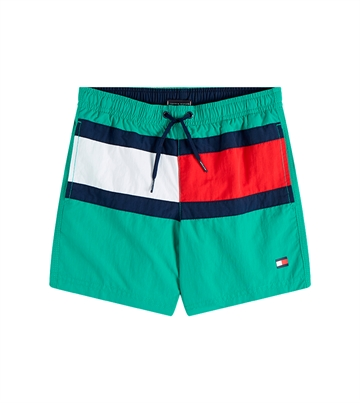 Tommy Hilfiger Boys Swim Shorts Flag Calypso Green