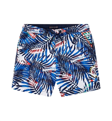 Tommy Hilfiger Boys Swim Shorts Palm Tropic/White