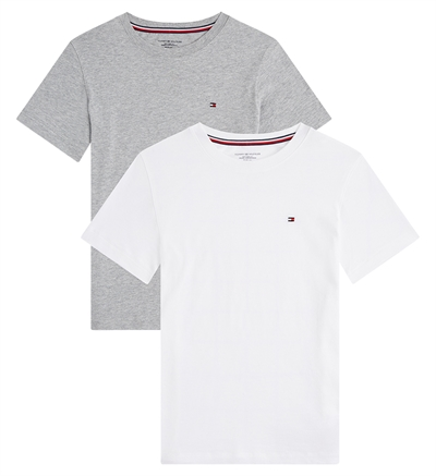 Tommy Hilfiger T-shirts Boys 2-Pak Tee Grey heather/ White