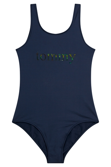 Tommy Hilfiger Badedragt Girls Onepiece Swimsuit 0310 Cun Pitch Blue