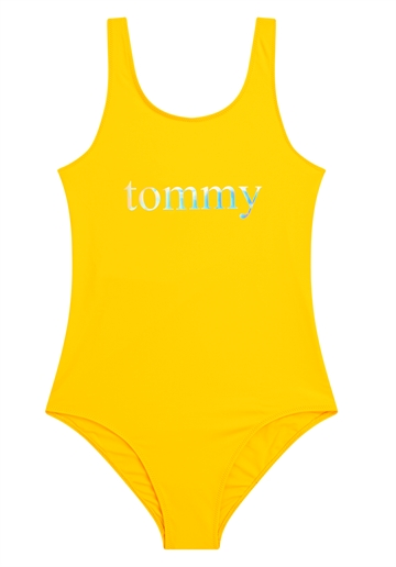 Tommy Hilfiger Badedragt Girls Onepiece Swimsuit 0310 Zgt Bold Yellow