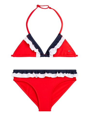 Tommy Hilfiger Bikini Girls Triangle 0321 XL7 Red Glare