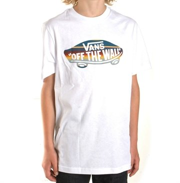 Vans tee Off The Wall white Georgia stripe
