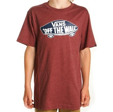 Vans Tee Off The Wall Burgundy Heather