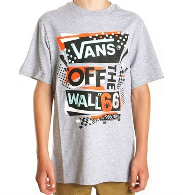 Vans Tee Off The Wall Retro Grey melange