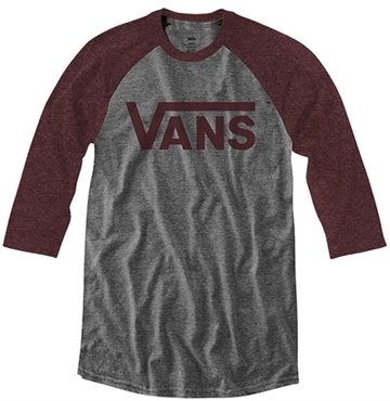 Vans t-shirt off the wall baseball gråmeleret