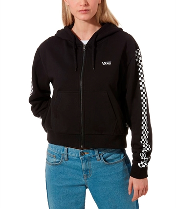 Vans Girls Cropped Hoodie Funnier Times Black.