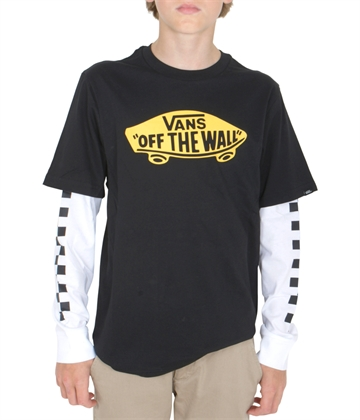 Vans T-shirt l/s Off The Wall Twofer Black