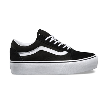 Vans Sko Old Skool Platform Black / White
