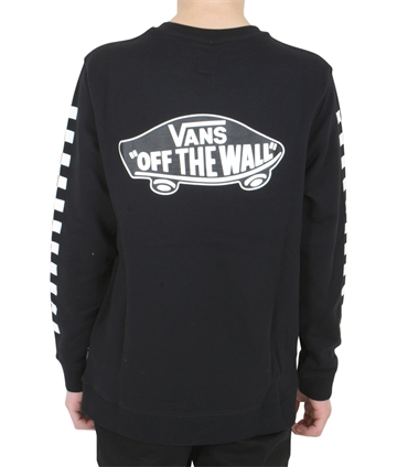 Vans Sweatshirt Off The Wall Check Back Print Black