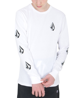 Volcom T-shirt Deadly Stones l/s White