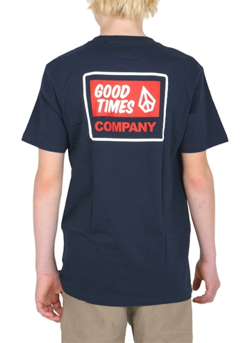 Volcom T-shirt Good Times s/s Navy Backprint