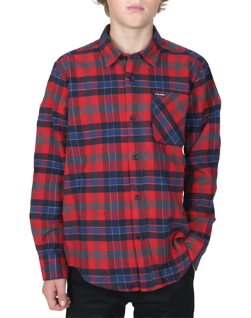 Volcom Flannel Shirt Caden Plaid Black C0531804