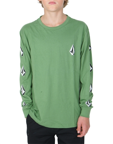 Volcom T-shirt DEADLY STONE BSC LS DKY