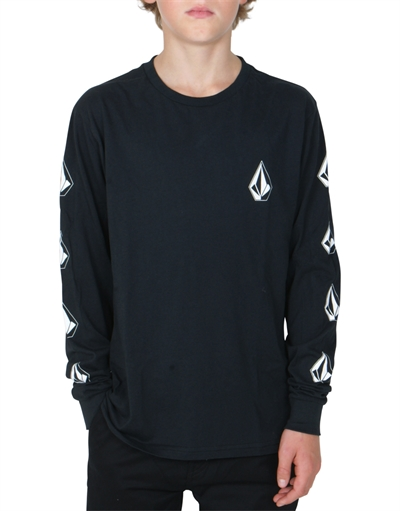Volcom T-shirt Deadly Stone BSC LS BLK