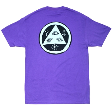 Welcome Skateboards T-shirt Talisman Classic Purple/Teal/Black