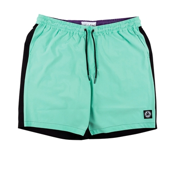 Welcome Shorts Dark Wave Split Color Hybrid Teal Black