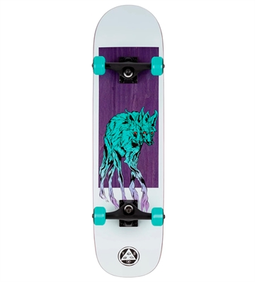 Welcome Skateboard Complete Maned Wolf White 8,0
