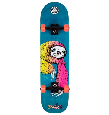 Welcome Skateboard Complete Sloth Blue 8,0