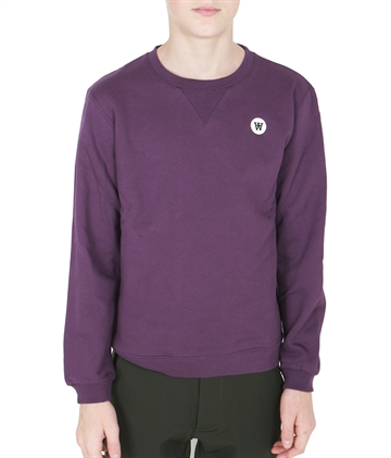 Wood Wood Double A Sweatshirt Rod Aubergine