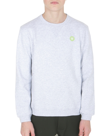 Wood Wood Double A Sweatshirt Rod Light Grey Melange