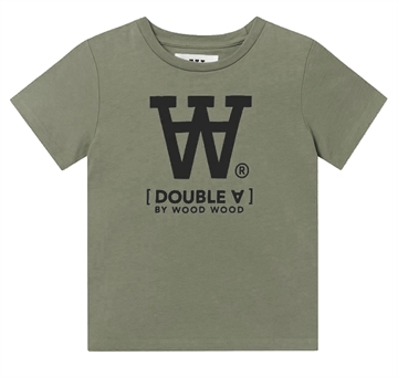 Wood Wood Double A Ola Tee s/s Big Logo 5704-2222 Army