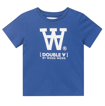 Wood Wood Double A Ola Tee Big Logo 5704-2222 Blue