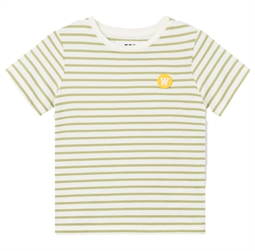 Wood Wood Double A Ola Tee 5713-2222 Offwhite/Olive Stripes