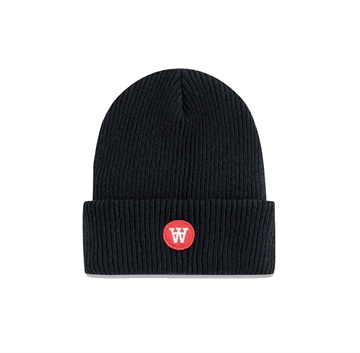 Wood Wood Double A Fox Beanie 0808-9969 Navy
