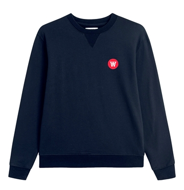 Wood Wood Double A Sweatshirt Rod Navy
