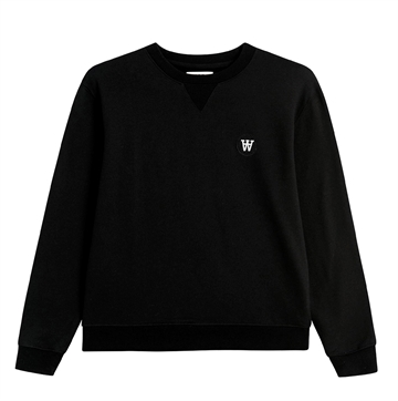 Wood Wood Double A Sweatshirt Rod Black