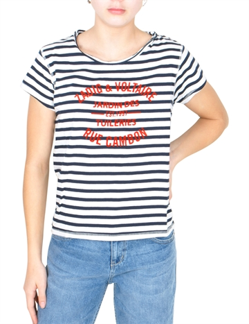 Zadig & Voltaire T-shirt Blue White X15139