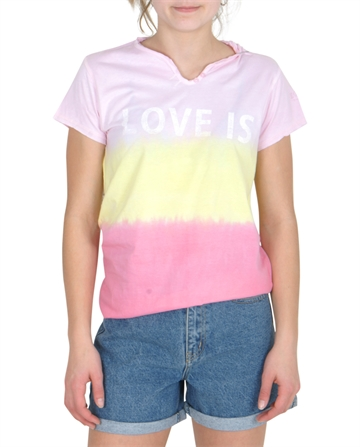 Zadig & Voltaire Tee Tunesian Collar Pink / Yellow X15132