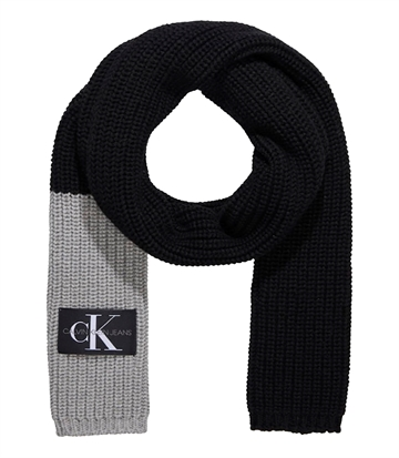 Calvin Klein Monogram Knitted Scarf Black Beauty