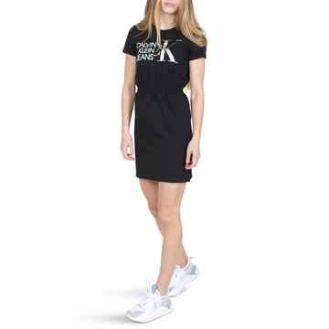 Calvin Klein Girls T-Shirt Dress Hybrid Logo 00913 Black
