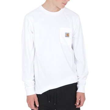 Carhartt T-shirt Pocket l/s White